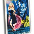 La Dolce Vita 1959 Vintage Movie Framed Canvas Print