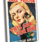 This Gun For Hire 1942 Vintage Movie Framed Canvas Print 11