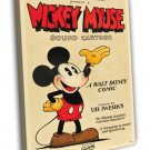 Mickey Mouse Stock Poster 1928 Vintage Movie FRAMED CANVAS Print