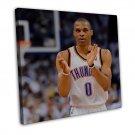 Russell Westbrook Basketball Star Art 20x16 FRAMED CANVAS Print Decor