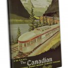 Vintage Train Travel Art 20x16 FRAMED CANVAS Print Decor