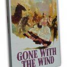 Vintage Gone With The Wind Movie Art 20x16 Framed Canvas Print Decor