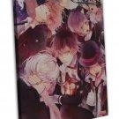 Diabolik Lovers Anime Art 20x16 Framed Canvas Print Decor
