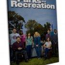 Parks And Recreation Tv Show Art 20x16 Framed Canvas Print Decor