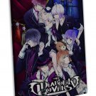 Diabolik Lovers Anime Art 20x16 Framed Canvas Print Decor