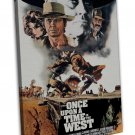 Once Upon A Time In The West Movie Art 20x16 FRAMED CANVAS Print Decor