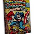 Marvel Vintage Cover Captain Art 20x16 FRAMED CANVAS Print Decor