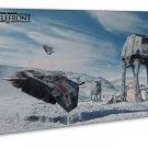 Star Wars 7 The Force Awakens Art 20x16 Framed Canvas Print Decor