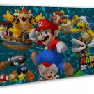Super Mario Bros Baby Cute Art 20x16 Framed Canvas Print Decor