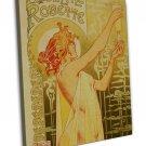 Absinthe Blanqui Vintage French Style Art 20x16 FRAMED CANVAS Print Decor