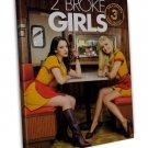 2 Broke Girls Tv Show Art 20x16 Framed Canvas Print Decor