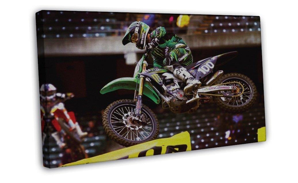 Motocross Dirt Bike Jump Sport Wall Decor 20x16 FRAMED