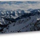 Alps Snow Mountains Wall Decor 20x16 Framed Canvas Print