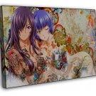 Anime Tattoo Girl Wall Decor 20x16 FRAMED CANVAS Print
