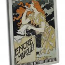 Vintage French Advertisements Wall Decor 20x16 FRAMED CANVAS Print