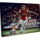 Aaron Ramsey Football Star Wall Decor 20x16 FRAMED CANVAS Print