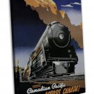 Vintage Train Travel Wall Decor 20x16 FRAMED CANVAS Print