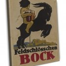 Bock Vintage Ad Wall Decor 20x16 Framed Canvas Print