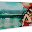 Anime Tattoo Girl Art 20x16 Framed Canvas Print Decor