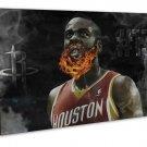 James Harden Basketball Star Art 20x16 FRAMED CANVAS Print Decor