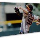 Tim Lincecum Baseball Players Art 20x16 FRAMED CANVAS Print Decor
