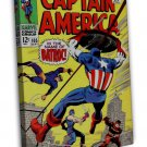 Marvel Vintage Cover Captain Art 20x16 FRAMED CANVAS Print Decor