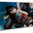 Anime Tattoo Girl Art 20x16 Framed Canvas Print Decor