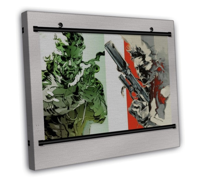 Metal Gear Solid 4 Game With Wall Scroll Decor