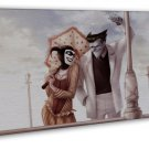 Harley Quinn Batman Arkham City Art 20x16 FRAMED CANVAS Print Decor