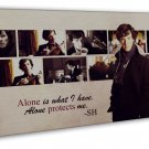 Sherlock Tv Show Art 20x16 Framed Canvas Print Decor