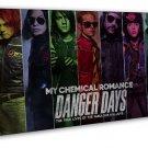 My Chemical Romance Art 20x16 Framed Canvas Print Decor