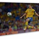 Zlatan Ibrahimovic Football Star Art 20x16 FRAMED CANVAS Print Decor