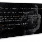Rocky Balboa Motivational Quotes Art 20x16 FRAMED CANVAS Print Decor
