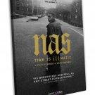 Nasty Nas Rap Singer Art 20x16 Framed Canvas Print Decor Decor