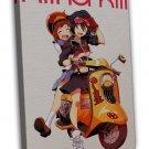 Kill La Kill Anime Art 20x16 Framed Canvas Print Decor
