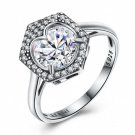 Simple Heart Cubic Zirconia 925 Sterling Silverr Ring