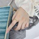 Elegant Double Hole CZ 925 Sterling Silver Adjustable Ring