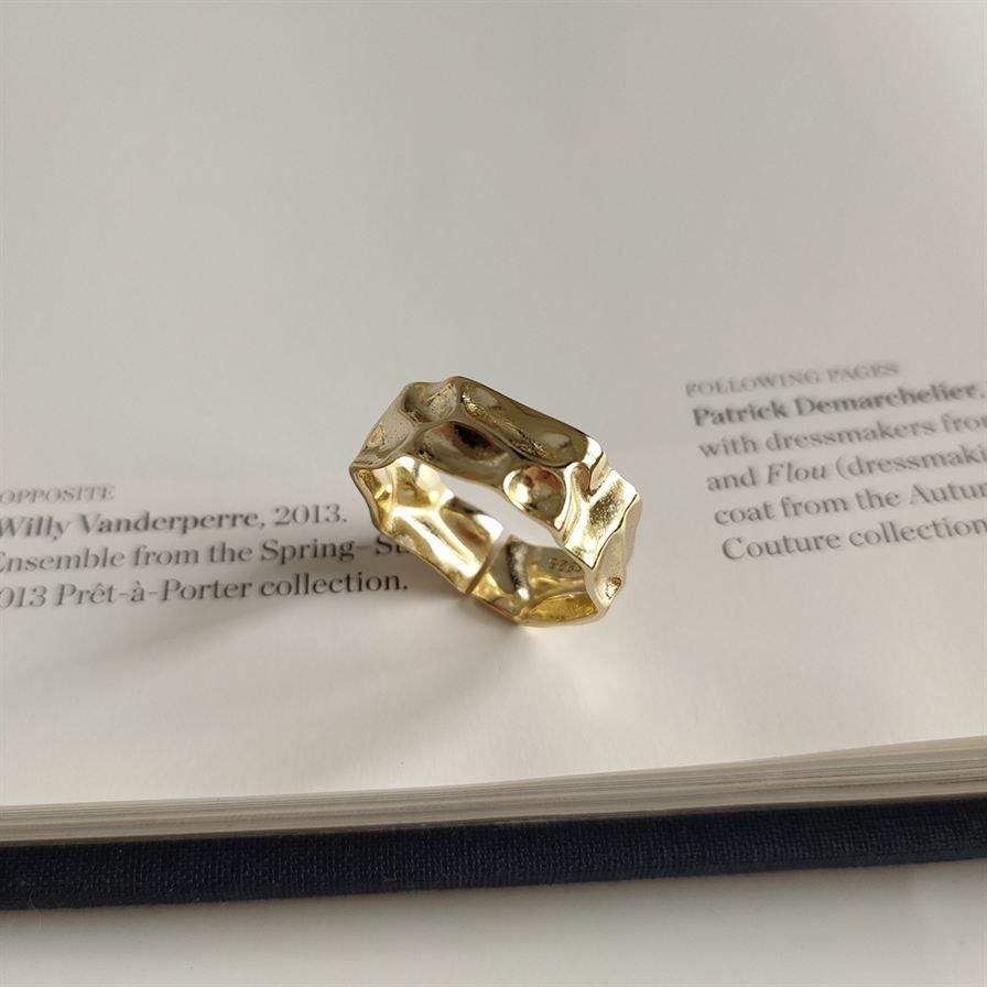 Irregular 925 Sterling Silver Adjustable Ring