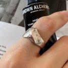 Irregular Peak 925 Sterling Silver Adjustable Ring