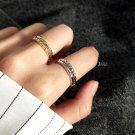 Twisted Double Layer 925 Sterling Silver Adjustable Ring