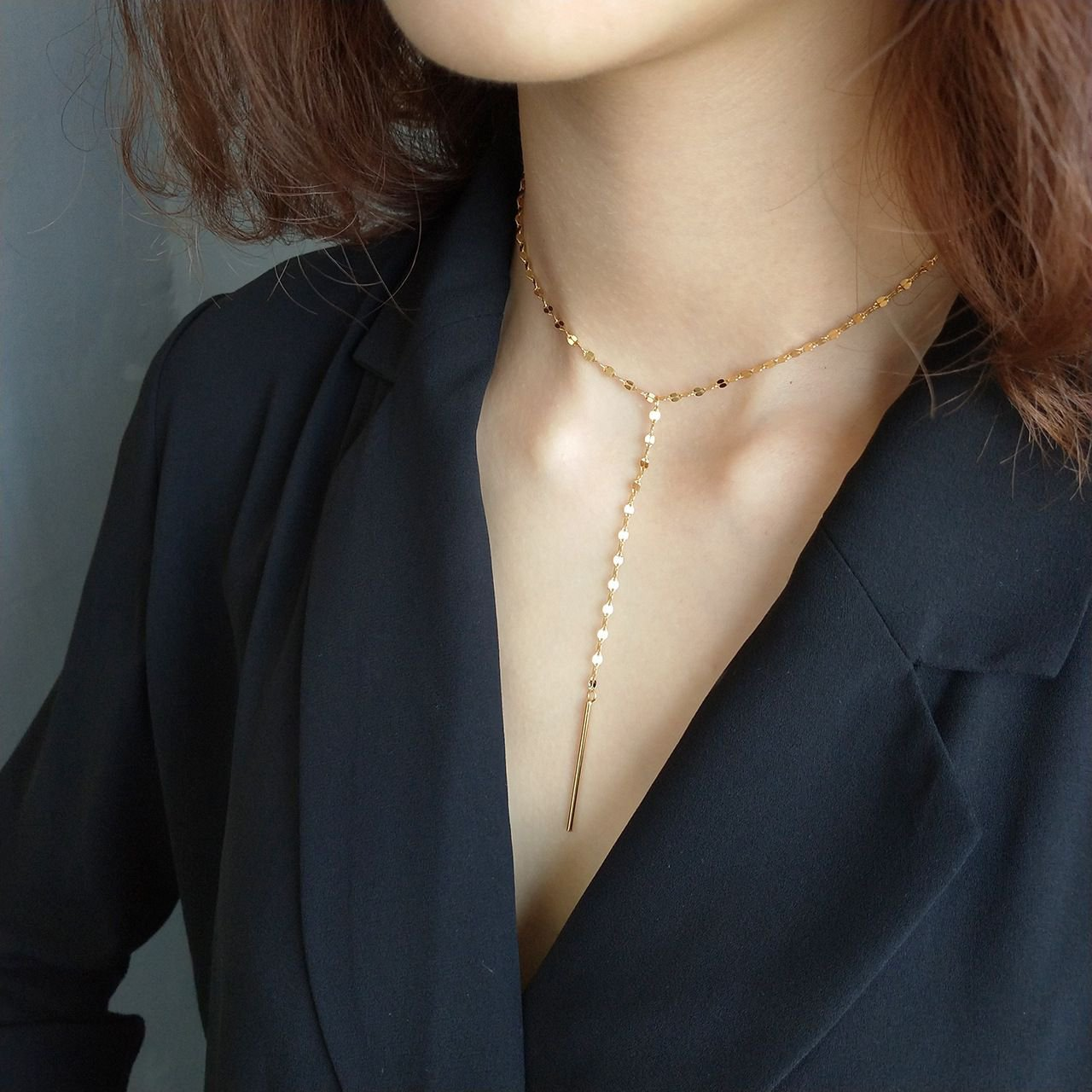 Lip Chain 925 Sterling Silver Adjustable Dangling Necklace