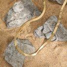 Minimalism Flat Snake Chain 925 Sterling Silver Choker Necklace