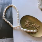 Office Irregular Natural Pearl Chain 925 Sterling Silver Necklace