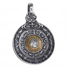 Turning Round Taichi Gossip Brave Troop Solid 925 Silver Pendant