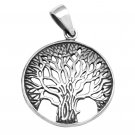 Tree of Life 925 Sterling Silver Vintage Pendant