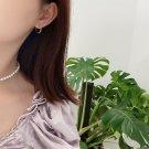 Classic Irregular 925 Sterling Silver Hoop Earrings