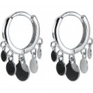 Sweet Small Wafers 925 Sterling Silver Hoop Earrings