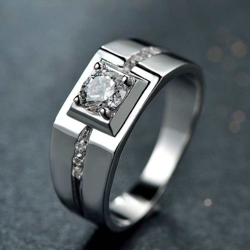 Trendy Man's CZ 925 Sterling Silver Ring