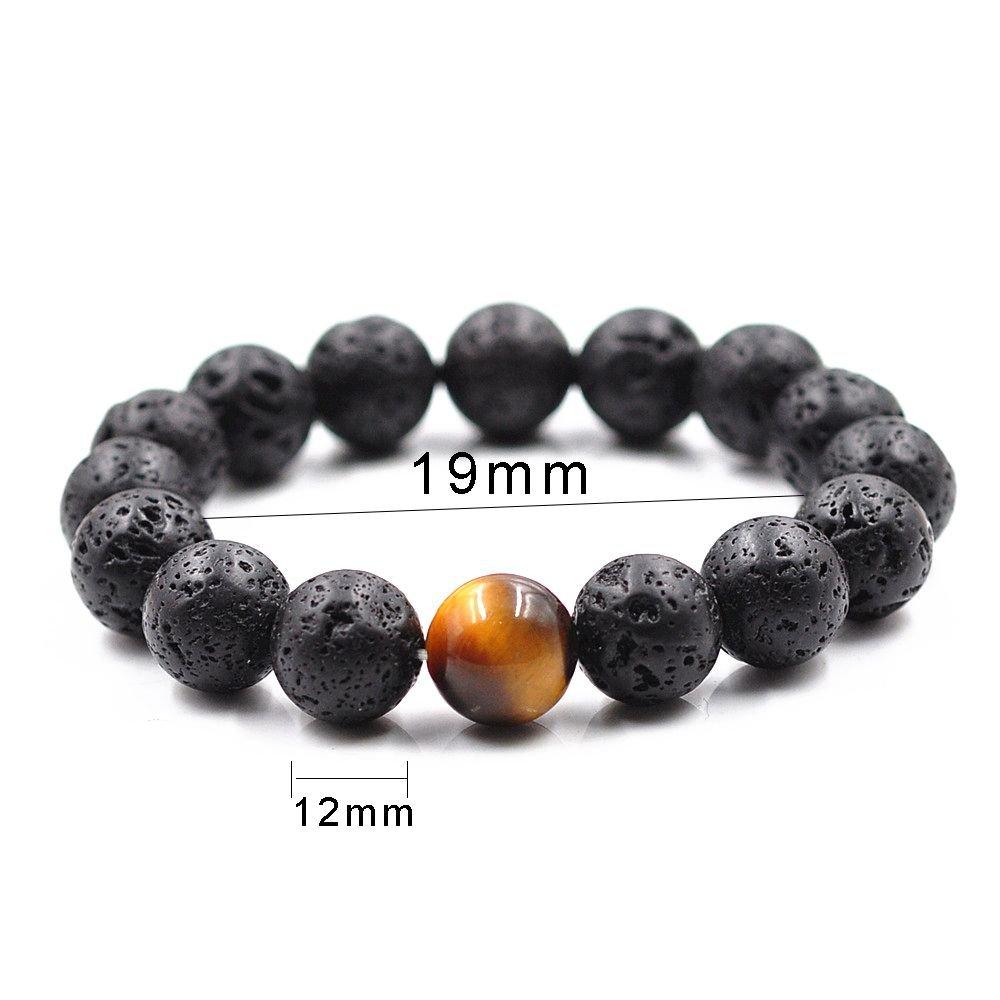 Created Volcanic Tiger Eye Bead Bracelet