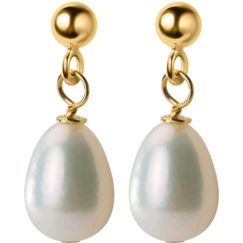 Waterdrop Freshwater Pearl 925 Silver Dangling Earrings